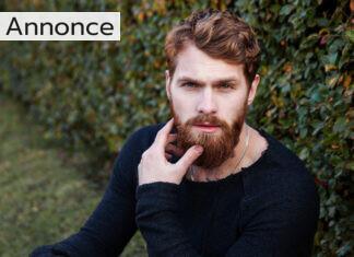 En mand med skæg