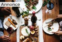 Spisebord med fælles servering